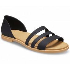 CROCS Tulum Open Flat Sandal Black/Tan  Was £44.95