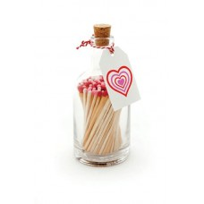 Luxury bottled long matches hearts
