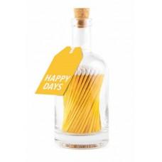 Luxury bottled long matches Happy days