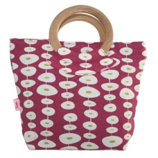 Lua Round Handle Bag Raspberry Oval Link