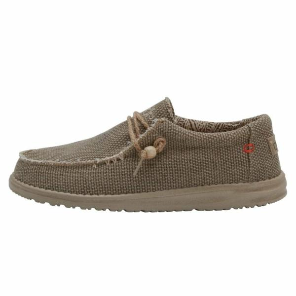 HEY DUDE Wally Natural Braided Nut RRP £49.95