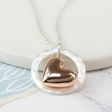 Rose gold plated heart necklace