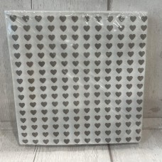 Napkins White and Grey Hearts