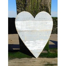 Small Grey Wooden Heart