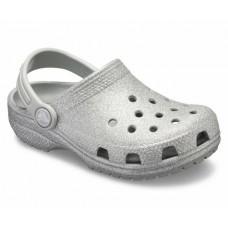 Crocs Kids Glitter Clog Silver RRP £24.95