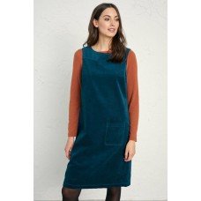 SEASALT Safflower Pinafore Dress Dark Storm  RRP £75
