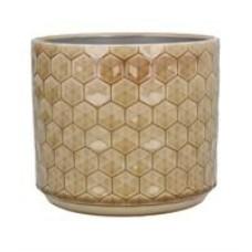 Mustard Honeycomb Ceramic Pot cover