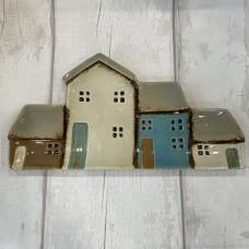 Ceramic Houses Plate