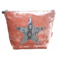 Large Snakeskin Cosmetic Bag Pink