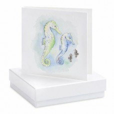 Seahorse Silver Boxed Earrings