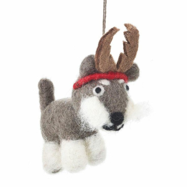 FELT SO GOOD Festive Felt Hugo Dog Decoration