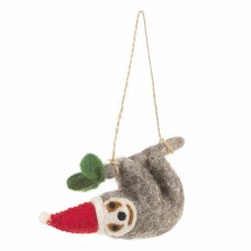 FELT SO GOOD Christmas Felt Sloth Decoration