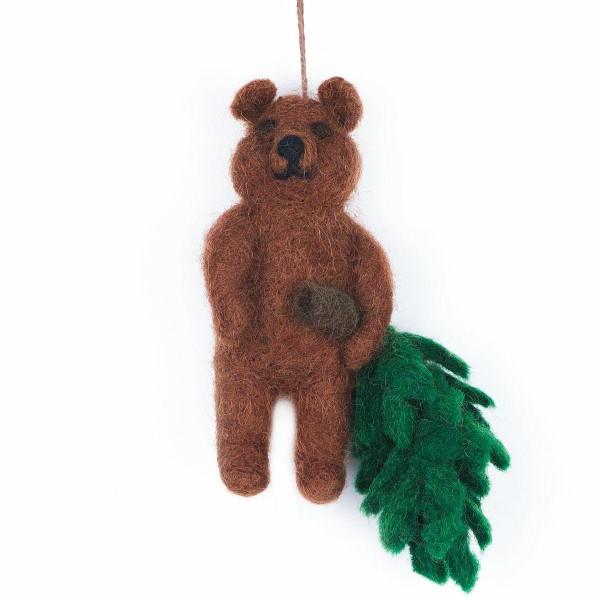 FELT SO GOOD Bear with Xmas Tree Decoration