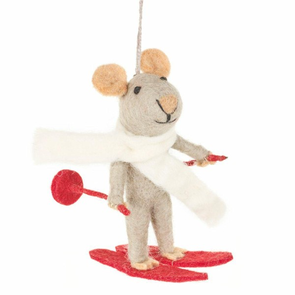 FELT SO GOOD Xmas Felt Marcel Mouse Decoration