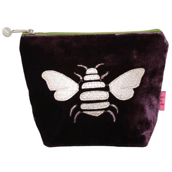 Gold Bee Small Cosmetic Purse Fig