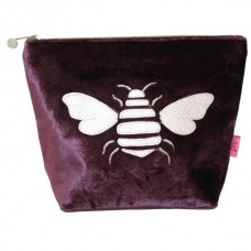 Gold Bee Large Cosmetic Purse Fig