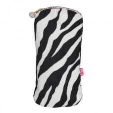 Zipped Glasses Purse Zebra Print