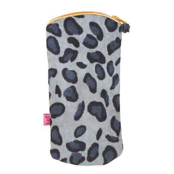 Zipped Glasses Purse Leopard Print