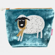 Winter Sheep Cosmetic Purse Turquoise