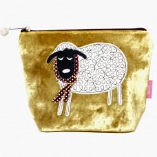 Winter Sheep Cosmetic Purse Mustard