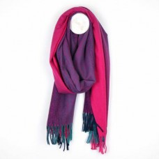 Pink Purple Ombre Weave Scarf