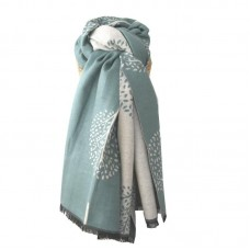 Mulberry Trees Scarf duck egg blue