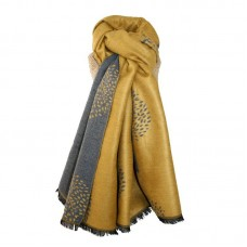 Mulberry Trees Scarf mustard/grey