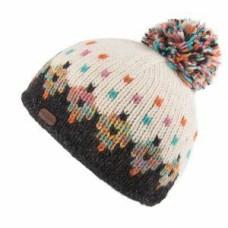 KUSAN Bobble Hat Charcoal