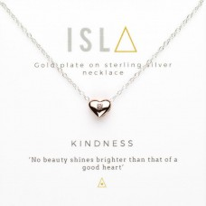 ISLA Kindness Rose Gold Plate Sterling Silver Necklace