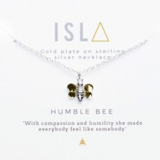 ISLA Humble Bee Gold Plate Sterling Silver Necklace
