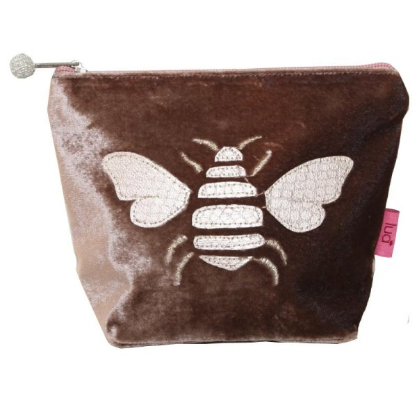 Gold Bee Small Cosmetic Purse Mink
