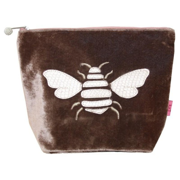 Bee Large Cosmetic Purse Mink