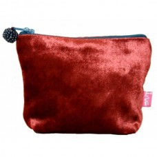 LUA Mini Velvet Purse Red