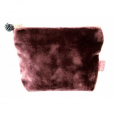Mini Coin Purse Velvet Purple