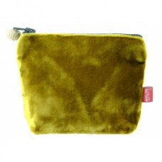 LUA Mini Velvet Purse Mustard