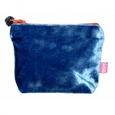LUA Mini Velvet Purse Cobalt Blue