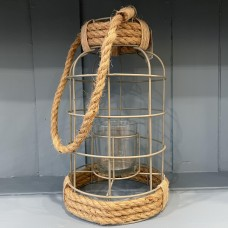 Cage Candle Holder with Rope Handle