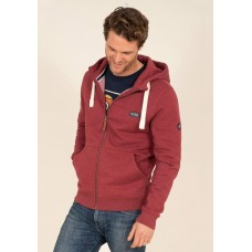 BRAKEBURN Zip Through Hoodie Pink RRP £54.95