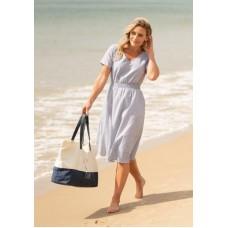 BRAKEBURN Blue Stripe Dress  RRP £44.95