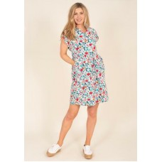 BRAKEBURN Botanical Shirt Dress Multi  RRP £49.95