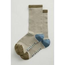 SEASALT  Sailor Socks Mini Stripe Dark Seagrass