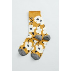 SEASALT  Bamboo Arty Socks Wild Mallow Boat Yellow