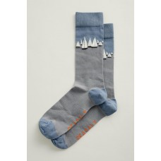 SEASALT Men's Arty Socks Salt Crystal Pool