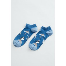 SEASALT Arty Trainer Socks Bird Reserve Longboat