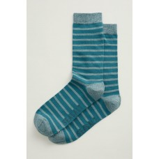 SEASALT Men's Sailor Socks Breton Gouache Zinc