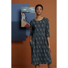 SEASALT South Border Dress Carved Leaf Dusky Jade RRP £65