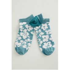SEASALT  Arty Trainer Socks Grassland Flowers Stream