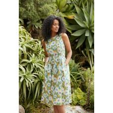 SEASALT Terrace Garden Dress Gazania Daisies Sandstone RRP £65