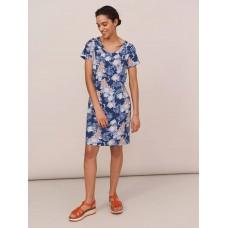 WHITE STUFF Selina Fairtrade Dress Blue RRP £55