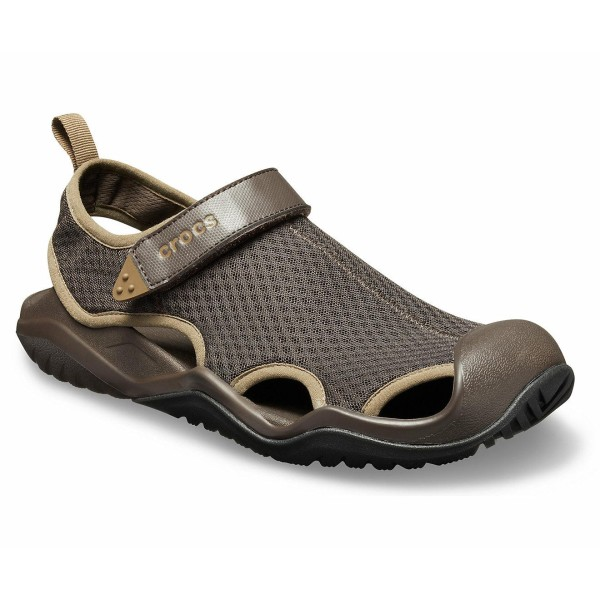 CROCS Swiftwater Mesh Deck Sandal Espresso RRP £44.95